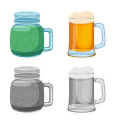 isolated object of drink and bar symbol set of vector image