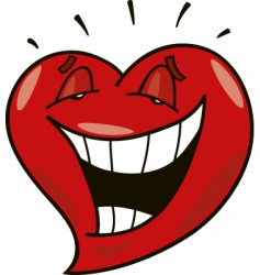 laughing heart vector image