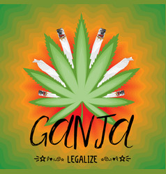 Legalize cannabis banner vector