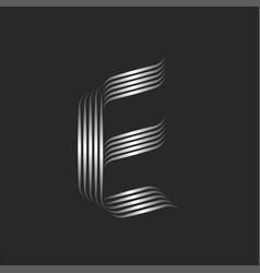 letter e initial logo monogram minimal style vector image