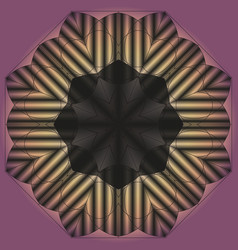 Mandala round ornament black pattern on a lilac vector