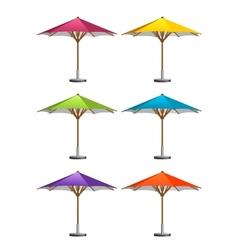Market umbrellas vector