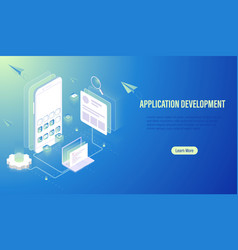 mobile application development and ui ux design vector image