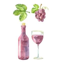 picture wine vector image