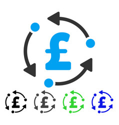 Pound rotation flat icon vector
