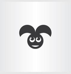 rabbit logo icon black symbol vector image
