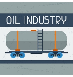Railway tank with oil background vector