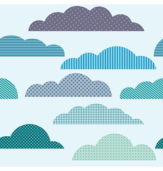 Rainy seamless pattern with clouds pattern vector image