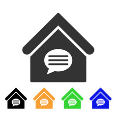 realty message icon vector image