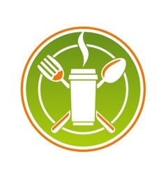 Restaurant icon for fastfood vector