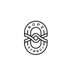 rope symbol logo design inspiration template vector image