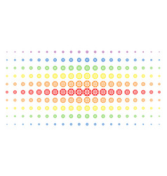 Roulette casino chip spectral halftone grid vector