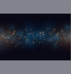 Royal blue background with sparkles light effect vector