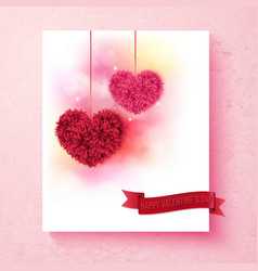 Sentimental Valentine card design with hearts vector