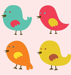 Set of Lovely Birds vector image