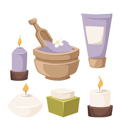 spa icons treatment beauty procedures vector image