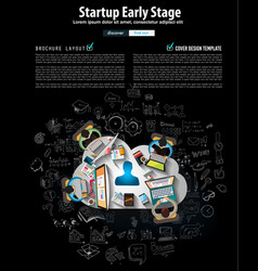 Startup landing webpage or corporate design covers vector