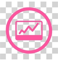 Stock Market Chart Flat Rounded Icon vector
