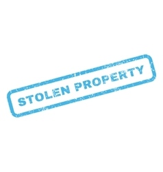 Stolen Property Rubber Stamp vector image