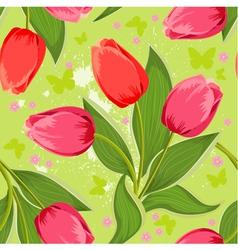 tulip seamless vector image