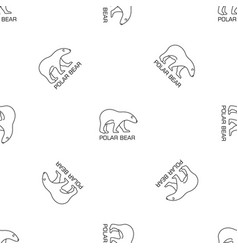 white bear pattern seamless vector image