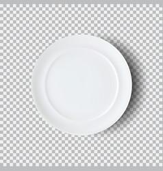 White plate isolated on transparent background vector