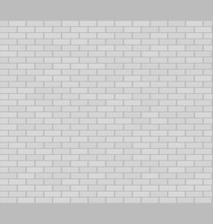 White realistic seamless brickwork wall vector
