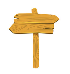 wooden signboard plaque button for games or site vector image