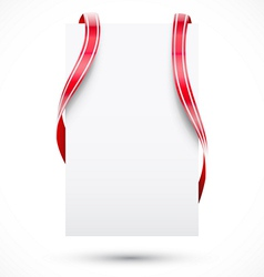 Blank tag with ribbon vector image vector image