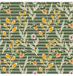 Floral seamless pattern Horizontal stripes Herbs vector image vector image