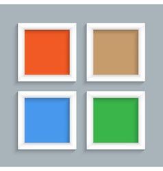 Four white modern frames vector image vector image