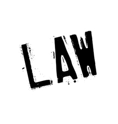 Law rubber stamp vector image