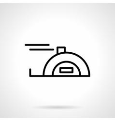 Meter tape black line icon vector image
