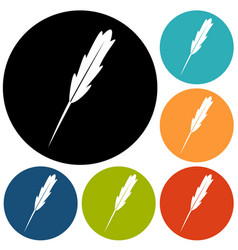 pen quill icon vector image