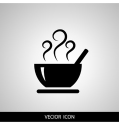Soup icon isolated on white background vector image