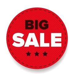 Big Sale label red vector image