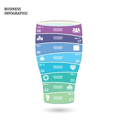 Business startup idea concept with 8 options vector image vector image