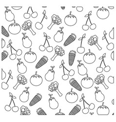 figure vegetables background icon vector image vector image