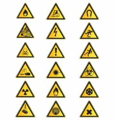 health and safety signs collection vector image vector image
