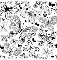 Monochrome black seamless pattern vector image vector image