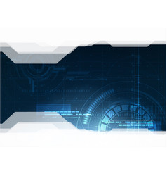 technological future hud security background vector image