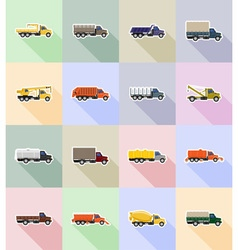 truck flat icons 18 vector image vector image