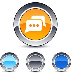 chat round button vector image vector image
