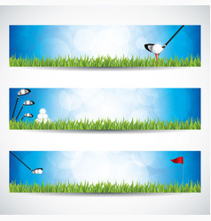 golf banners vector image