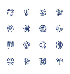 icon set for artificial intelligence vector image