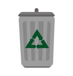 recycle bin isolated icon vector image