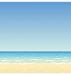 sand beach and blue sky vector image