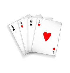 set of four aces deck of cards vector image vector image