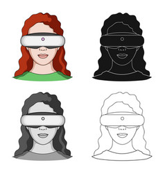 virtual reality glasses single icon in cartoon vector image
