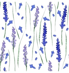 Watercolor lavender seamless vector image